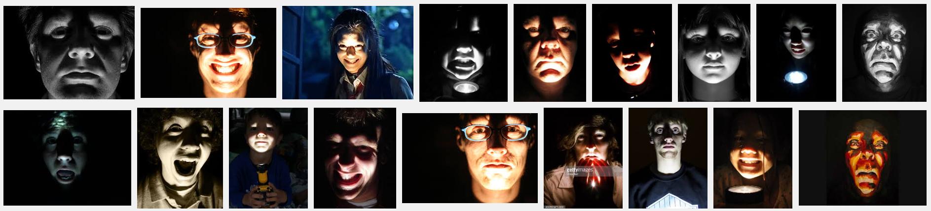 Flashlight Faces